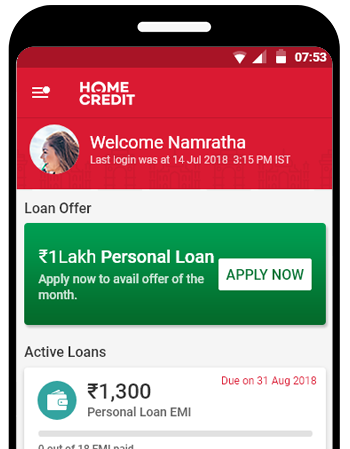 Manage your loan accounts and apply for a new loan