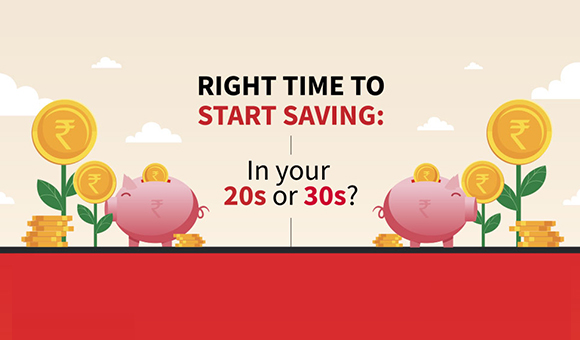 Right time to start saving: In your 20s or 30s!